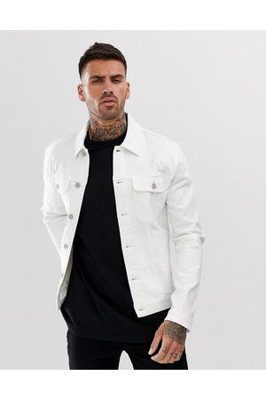 ASOS DESIGN Skinny western denim jacket in white