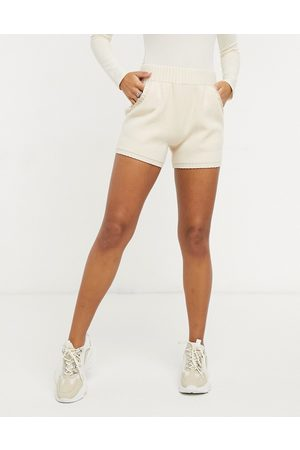Y.A.S Co ord knitted shorts in cream