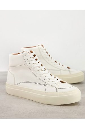 ASOS Lace up plimsolls in off white