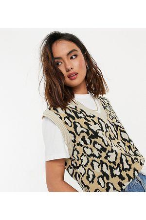Daisy Street Sweater vest in leopard knit