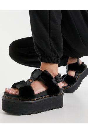 Dr. Martens Mujer Sandalias - Francis Fluffy sandals in black