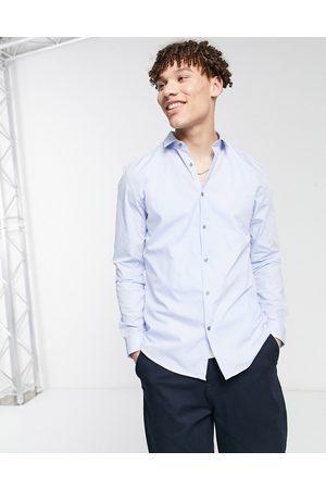 River Island Long sleeve poplin shirt in blue