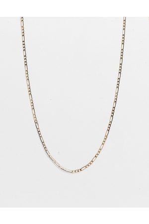 DesignB London DesignB figaro skinny chain necklace in gold