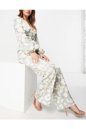 Never Fully Dressed Wide leg satin trouser co