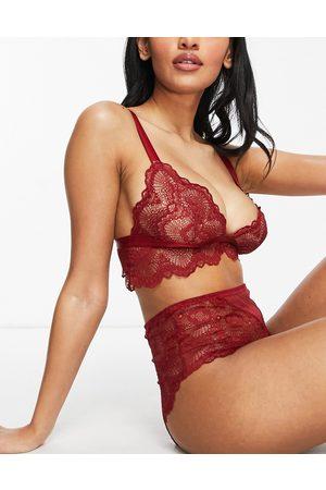 ASOS Mujer De copa completa - Fuller Bust Rosie lace longline bra in red