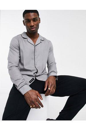 Native Youth Hombre Manga larga - Slim fit long sleeve shirt in grey
