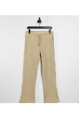 COLLUSION Suéteres - Unisex wide leg joggers in jersey knit in tan co