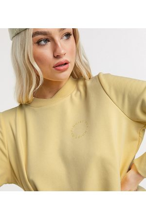 Noisy May Mujer Con capucha - Sweat with logo in pastel yellow