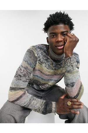ASOS Hombre Suéteres cerrados - Knitted turtle neck jumper in space dye yarn