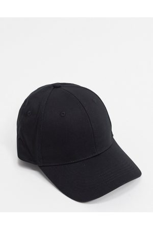 ASOS Baseball cap in black cotton