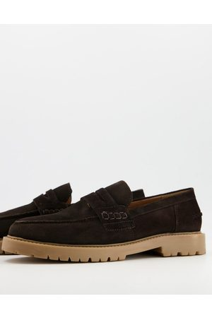 H by Hudson Hombre Mocasines - Radcliff chunky loafers in brown suede