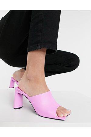Public Desire Mujer De tacón - Vice heeled mules with statement toe in bubblegum