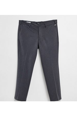 Jack & Jones Intelligence skinny jersey trousers in grey