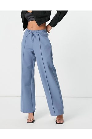 4th & Reckless Mujer Anchos y de harem - Tie string trousers in dusty blue