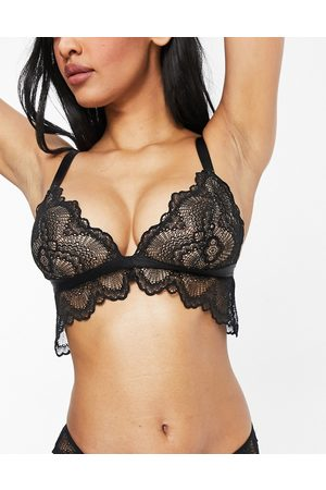 ASOS Mujer De copa completa - Fuller Bust Rosie lace longline bra in black