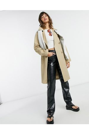 SELECTED Femme double breasted trench coat in