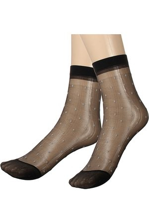Newchic 10 pares Lady Girl Lace Ultra-thin Fiber Denier Sheer Tobillo High Pop Dots calcetines
