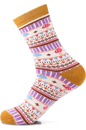 Newchic Mujer Calcetines - Mujer Grueso Cálido Lindo Mushroom Cotton calcetines Casual calcetines Transpirable High Elastic Tube calcetines