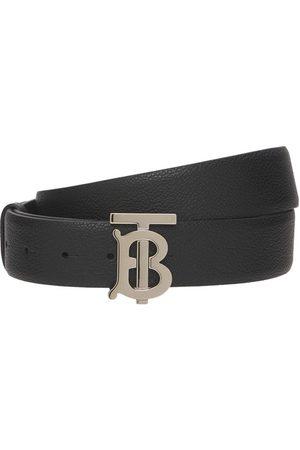 "Burberry Cinturón De Piel Granulada Con Logo ""tb"" 3.5cm"