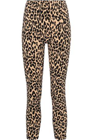 Adam Selman Sport French Cut leopard-print leggings