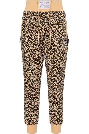 Adam Selman Sport Mujer Joggers - High-rise leopard-print sweatpants