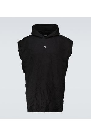Balenciaga Creased sleeveless hooded sweatshirt