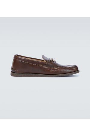 YUKETEN Bit leather loafers