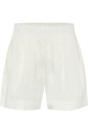 ASCENO Mujer Shorts - Zurich wide-leg linen shorts