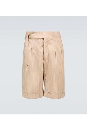 Nanushka Hombre Shorts - Nagi striped belted shorts