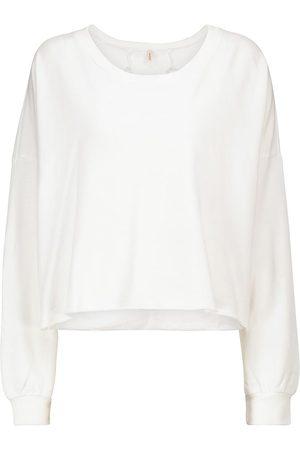 Lanston Mujer Sudaderas - Cutout cotton-blend terry sweatshirt