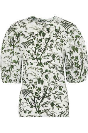 Erdem Theodora printed cotton top