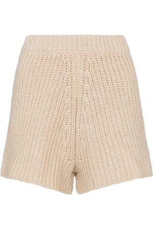 Alanui Mujer Shorts - High-rise crochet shorts