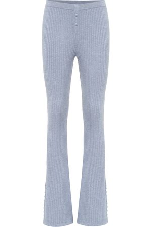 LIVE THE PROCESS Ribbed-knit flared sweatpants