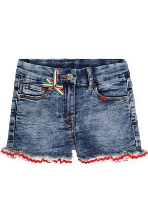 MONNALISA Niña De mezclilla - Embellished denim shorts
