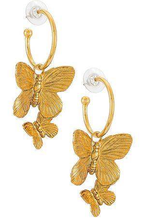 Jennifer Behr Pendientes de aro brynn en color oro metálico talla all en - Metallic Gold. Talla all.