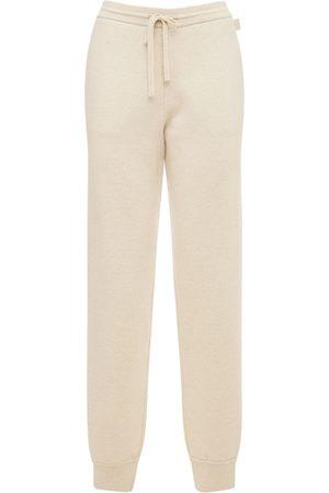 Loewe Pantalones Deportivos De Punto De Cashmere