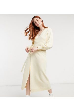 Outrageous Fortune Exclusive knitted cardigan dress in off white