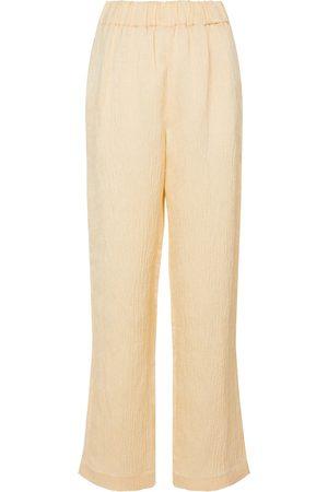 CO Wide-leg linen-blend pants