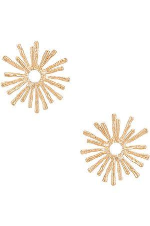 petit moments Mujer Aretes - Pendientes disco daisy en color oro metálico talla all en - Metallic Gold. Talla all.