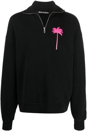 Palm Angels Palm-print turtleneck sweatshirt