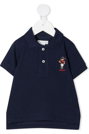 Ralph Lauren Playera tipo polo con bordado Polo Bear