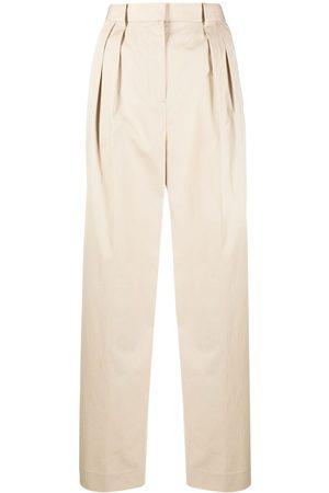 Tory Burch Pantalones rectos con pinzas