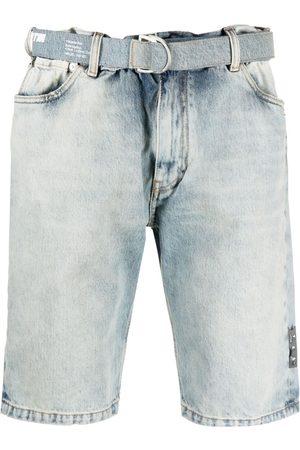 OFF-WHITE Shorts de mezclilla por la rodilla