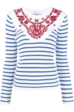 RED Valentino Jersey de rayas bordado