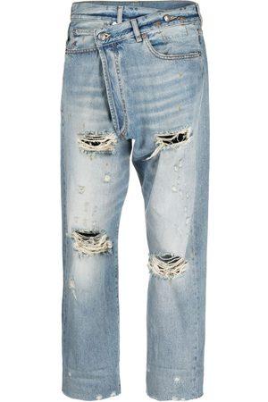 R13 Mujer Rectos - Jeans rectos con tiro alto
