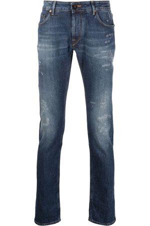 Hand Picked Jeans rectos con tiro medio