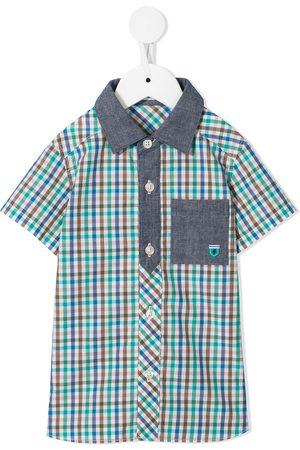 Familiar Camisa con estampado de cuadros