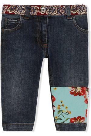 Dolce & Gabbana Patchwork-detail skinny jeans