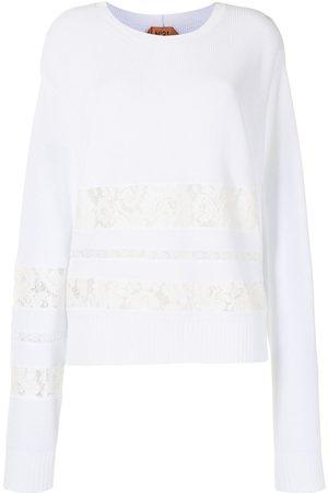 Nº21 Suéter con encaje incorporado