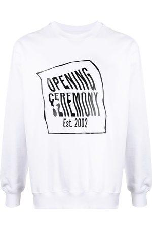 Opening Ceremony WARPED LOGO REGULAR CREWNECK WHITE BLACK